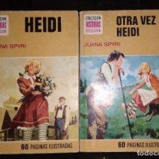 Libros antiguos: HEIDI Y OTRA VEZ HEIDI. Lote 104605711