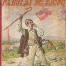 Libros antiguos: FÁBULAS DE ESOPO (BIBL.PARA NIÑOS SOPENA, 1935). Lote 105013955