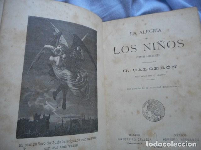 Libros antiguos: La alegría de los niños - libro ilustrado- Saturnino Calleja, 1896 - Foto 3 - 105040379