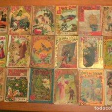 Libros antiguos: LOTE CUENTOS DE CALLEJA LITOGRAFIADOS 18 TOMOS ORIGINALES 10 X 7 CM. AÑO 1910. Lote 105200143