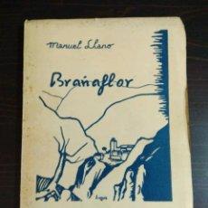 Libros antiguos: BRAÑAFLOR - MANUEL LLANO - EDICION POPULAR - PORTADA QUIROS - LA TIPOGRAFICA SANTANDER. Lote 105258159