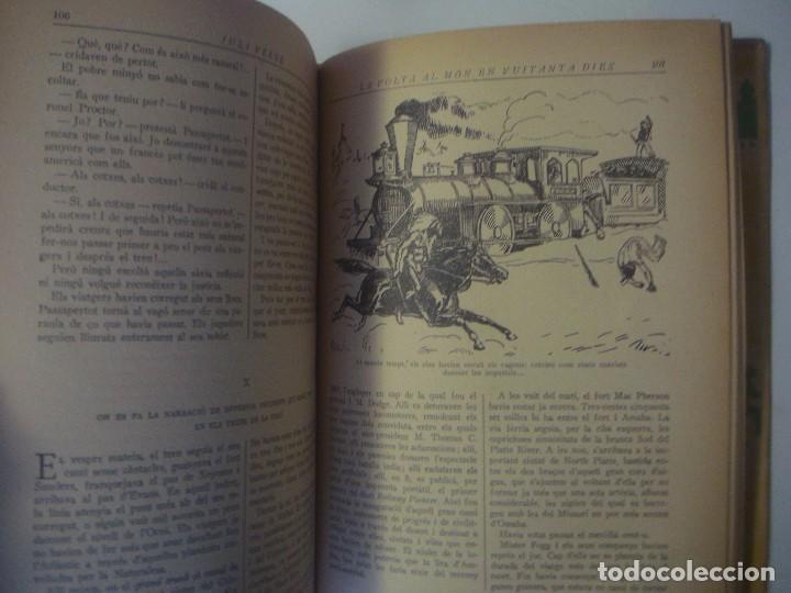Libros antiguos: LIBRERIA GHOTICA. JULI VERNE. LA VOLTA AL MON EN 80 DIES. EDITORIAL JUVENTUD. 1934. FOLIO. ILUSTRADO - Foto 4 - 105279031