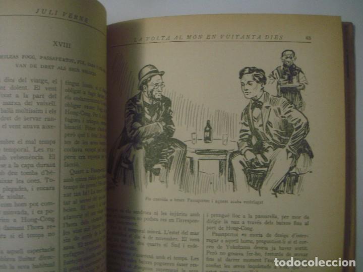 Libros antiguos: LIBRERIA GHOTICA. JULI VERNE. LA VOLTA AL MON EN 80 DIES. EDITORIAL JUVENTUD. 1934. FOLIO. ILUSTRADO - Foto 6 - 105279031