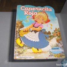Libros antiguos: CAPERUCITA ROJA. COLECCIÓN MARAVILLA. Nº 8. INTEREDICIONES J.M. CUENTO TROQUELADO. Lote 105348615