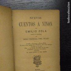 Libros antiguos: NUEVOS CUENTOS A NINON, ZOLA, E., 1888. Lote 105476187