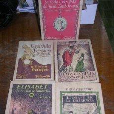 Libros antiguos: (F.1) LOTE DE CINCO LIBROS DE LA BIBLIOTECA PATUFER. Lote 105875347