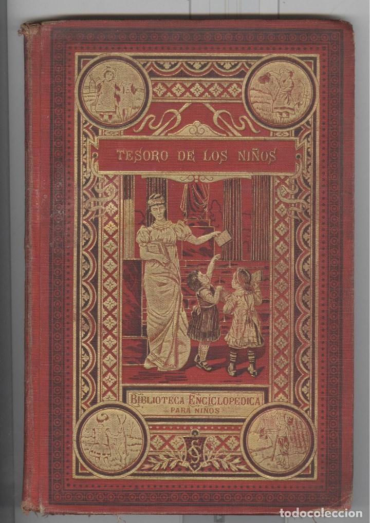 TESORO DE LOS NIÑOS. PORTADA MODERNISTA ORO. CUENTOS DE CALLEJA. EXCELENTES LÁMINAS. 1903 (Libros Antiguos, Raros y Curiosos - Literatura Infantil y Juvenil - Cuentos)