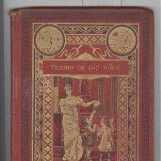 Livres anciens: TESORO DE LOS NIÑOS. PORTADA MODERNISTA ORO. CUENTOS DE CALLEJA. EXCELENTES LÁMINAS. 1903. Lote 106117271