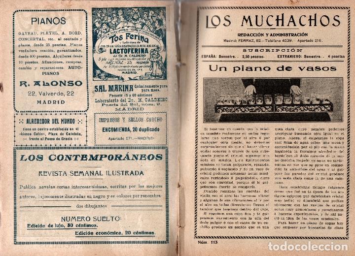 Libros antiguos: LOS MUCHACHOS. SEMANARIO CON REGALOS Nº 113. DOMINGO 9 DE JULIO DE 1916. - Foto 2 - 107595827