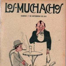 Libros antiguos: LOS MUCHACHOS. SEMANARIO CON REGALOS Nº 123. DOMINGO 17 DE SEPTIEMBRE DE 1916.. Lote 107607191