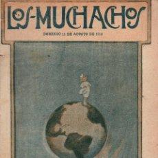 Libros antiguos: LOS MUCHACHOS. SEMANARIO CON REGALOS Nº 118. DOMINGO 13 DE AGOSTO DE 1916.. Lote 107608443