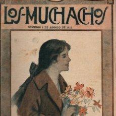 Libros antiguos: LOS MUCHACHOS. SEMANARIO CON REGALOS Nº 117. DOMINGO 6 DE AGOSTO DE 1916.. Lote 107608763
