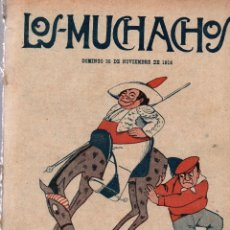 Libros antiguos: LOS MUCHACHOS. SEMANARIO CON REGALOS Nº 133. DOMINGO 26 DE NOVIEMBRE DE 1916.. Lote 107611119