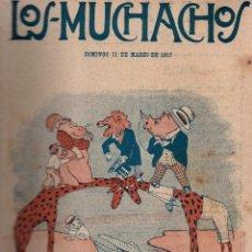 Libros antiguos: LOS MUCHACHOS. SEMANARIO CON REGALOS Nº 147. DOMINGO 11 DE MARZO DE 1917.. Lote 107676519