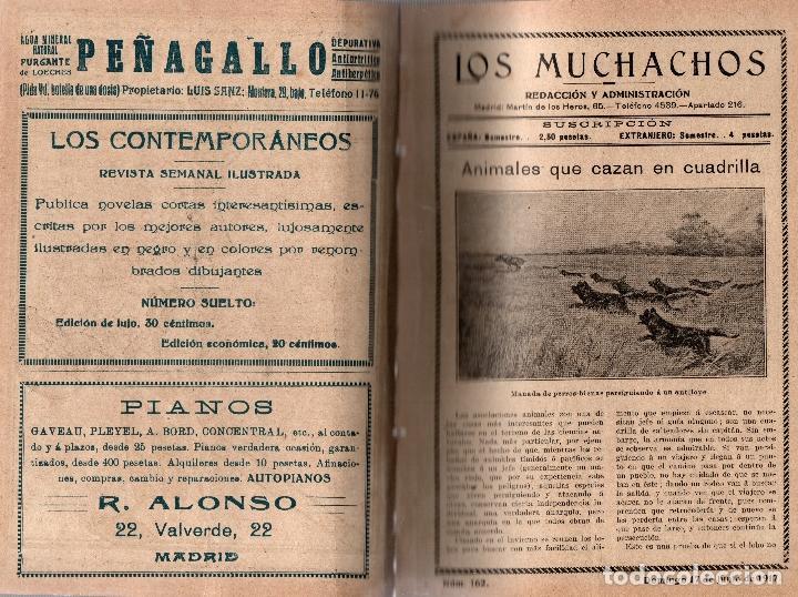 Libros antiguos: LOS MUCHACHOS. SEMANARIO INFANTIL Nº 162. DOMINGO 17 DE JUNIO DE 1917. - Foto 2 - 107684163