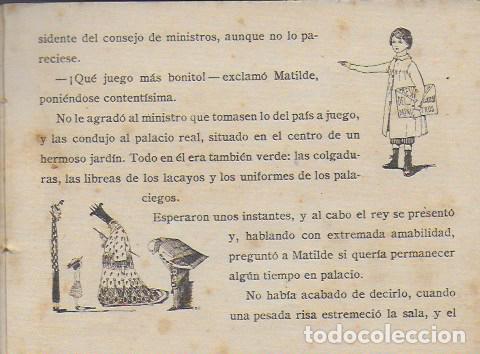 Libros antiguos: Viaje a tierra verde. Madrid : Calleja, 1919. Cuentos en colores. 5a. serie. 12x17cm. 16 p. - Foto 3 - 108013751