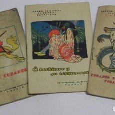 Libri antichi: 3 CUENTOS DE CALLEJA EN COLORES, EL HECHICERO Y SU CORNAMUSA, CORAZON DE ORO Y CORAZON DEPIEDRA, LOR. Lote 108855107