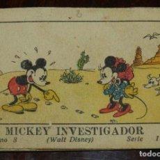 Libros antiguos: MICKEY INVESTIGADOR, ED.SATURNINO CALLEJA, JUGUETES INSTRUCTIVOS MICKEY TOMO 8 SERIE I, 1936, MIDE 7. Lote 108917795