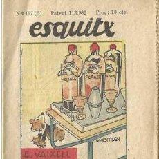 Libros antiguos: CUENTO ANTIGUO. ESQUITX. Nº197 (D). EL VAIXELL FANTASMA. SUPLEMENT D´EN PATUFET . Lote 109891471