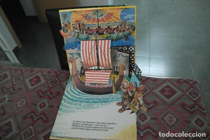 Libros antiguos: Barcos 1986, pop up, Ilustrador Kubasta en alemán - Foto 2 - 110104975