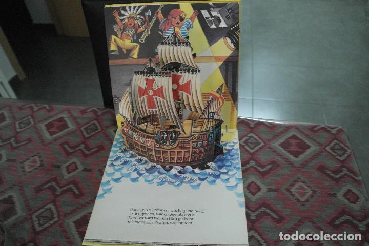 Libros antiguos: Barcos 1986, pop up, Ilustrador Kubasta en alemán - Foto 3 - 110104975