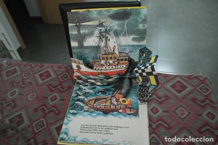 Libros antiguos: Barcos 1986, pop up, Ilustrador Kubasta en alemán - Foto 4 - 110104975