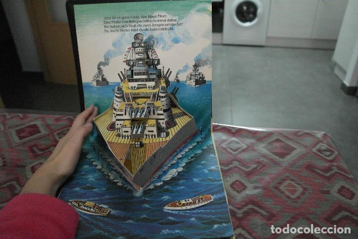 Libros antiguos: Barcos 1986, pop up, Ilustrador Kubasta en alemán - Foto 5 - 110104975