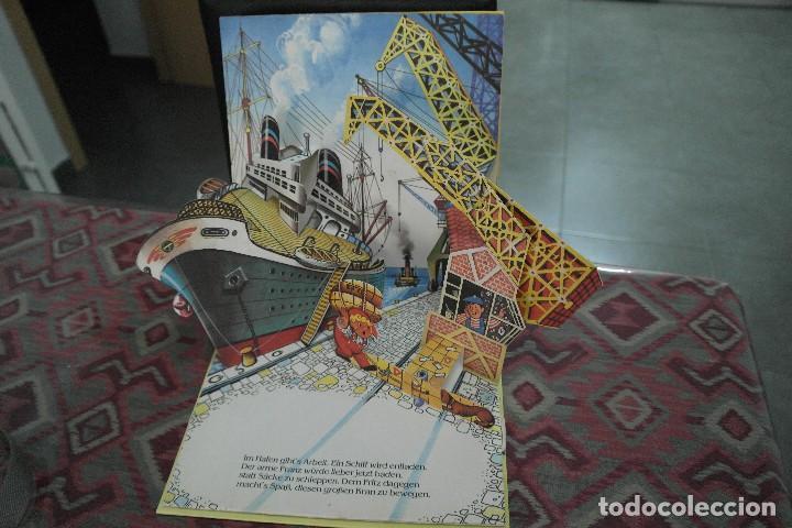Libros antiguos: Barcos 1986, pop up, Ilustrador Kubasta en alemán - Foto 6 - 110104975
