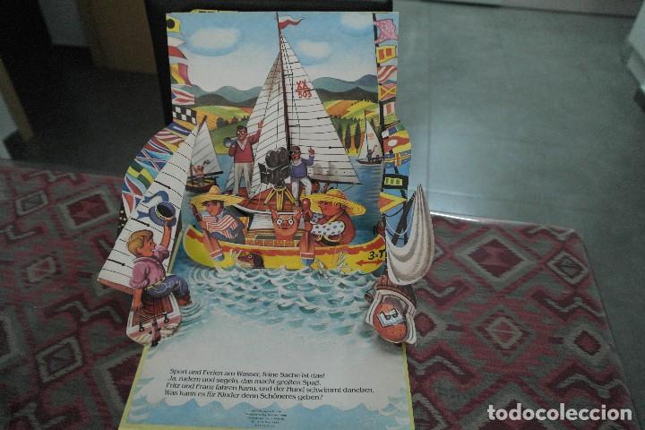 Libros antiguos: Barcos 1986, pop up, Ilustrador Kubasta en alemán - Foto 7 - 110104975