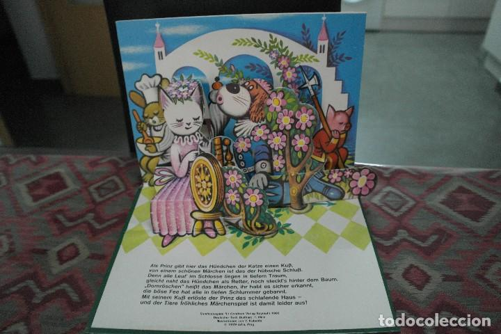 Libros antiguos: Cuentos de animales 1979, pop up, libro de Kubasta en alemán - Foto 7 - 110105351