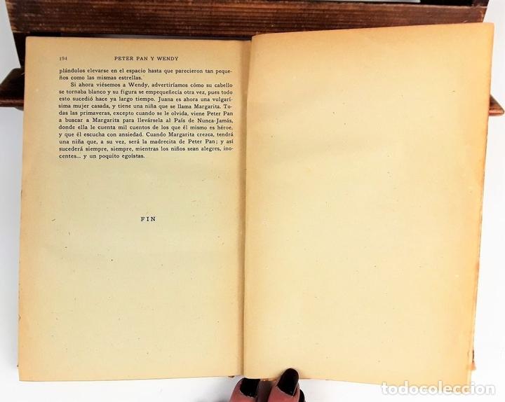 Libros antiguos: PETER PAN Y WENDY. J.M.BARRIE. EDIT JUVENTUD. 5º EDICIÓN. 1934. - Foto 5 - 110435667