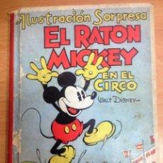 Libros antiguos: CUENTO CON MOVIMIENTO PUP-UP EL RATON MICKEY EN EL CIRCO DE WALT DISNEY ILUSTRACION SORPRESA MOLINO. Lote 110850243