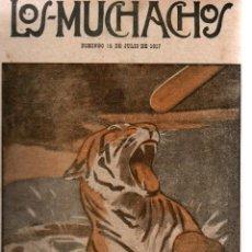 Libros antiguos: LOS MUCHACHOS. SEMANARIO INFANTIL. NÚM. 166. DOMINGO, 15 DE JULIO DE 1917.. Lote 111223099