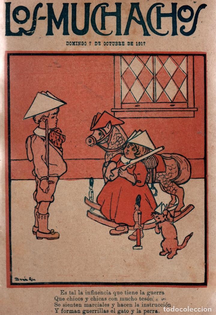 LOS MUCHACHOS. SEMANARIO INFANTIL. NÚM. 178. DOMINGO 7 DE OCTUBRE DE 1917. (Libros Antiguos, Raros y Curiosos - Literatura Infantil y Juvenil - Cuentos)