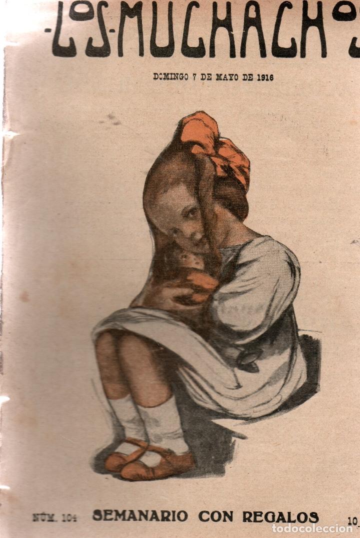 LOS MUCHACHOS. SEMANARIO CON REGALOS. NÚM. 104. DOMINGO 7 DE MAYO DE 1916. (Libros Antiguos, Raros y Curiosos - Literatura Infantil y Juvenil - Cuentos)
