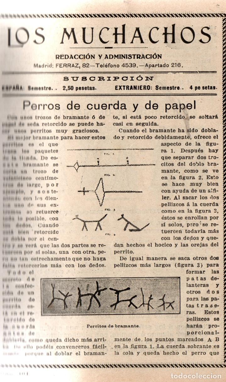 Libros antiguos: LOS MUCHACHOS. SEMANARIO CON REGALOS. NÚM. 104. DOMINGO 7 DE MAYO DE 1916. - Foto 2 - 111312363