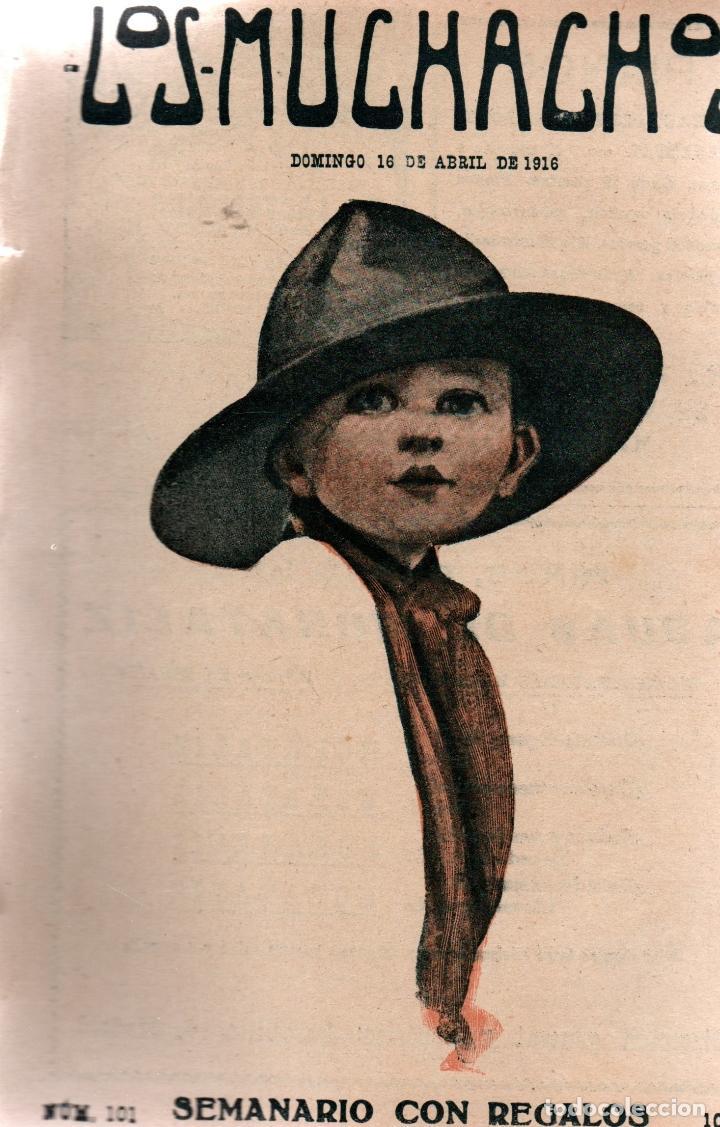 LOS MUCHACHOS. SEMANARIO CON REGALOS. NÚM. 101. DOMINGO 16 DE ABRIL DE 1916. (Libros Antiguos, Raros y Curiosos - Literatura Infantil y Juvenil - Cuentos)