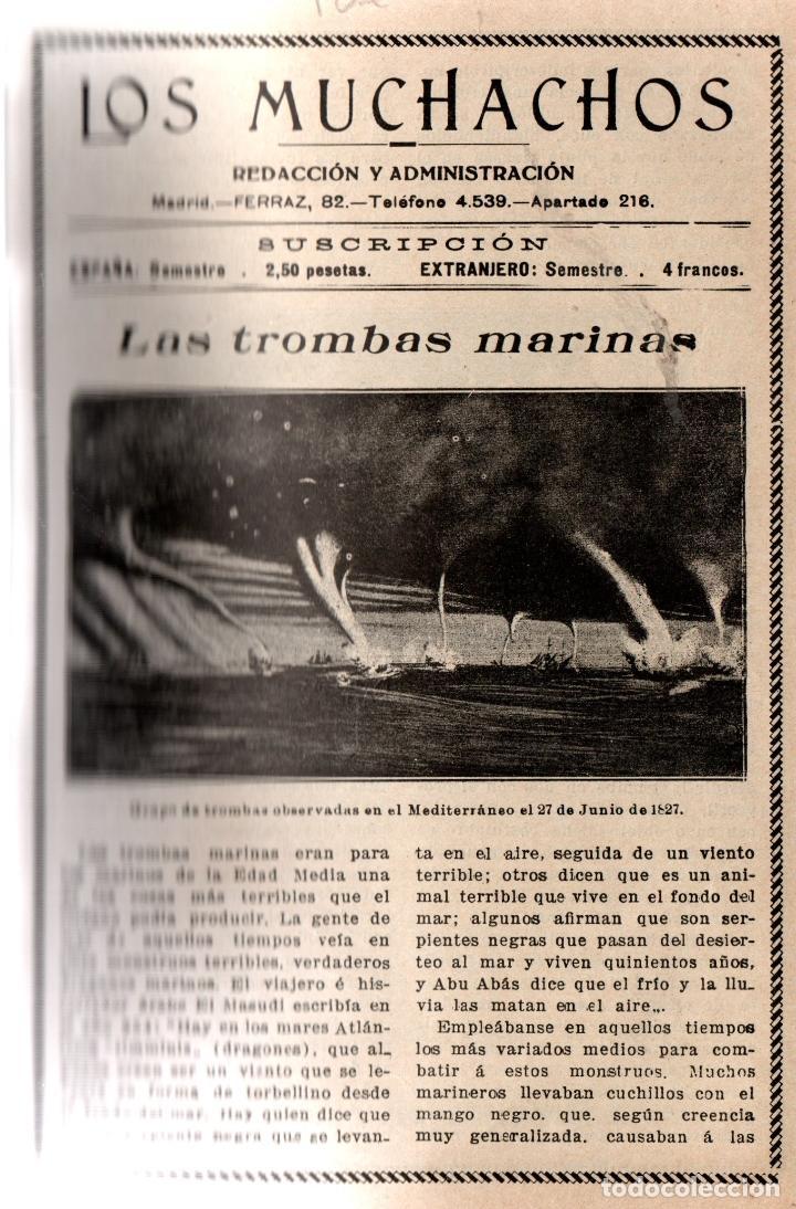 Libros antiguos: LOS MUCHACHOS. SEMANARIO CON REGALOS. NÚM. 91. DOMINGO 6 DE FEBRERO DE 1916. - Foto 2 - 111317083