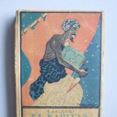 Libros antiguos: SALGARI // EL KAPITÁN DE LA DJUMNA // TOMO I // CUBIERTA LITOGRÁFICA DE ROBLEDANO // CALLEJA. Lote 111615151