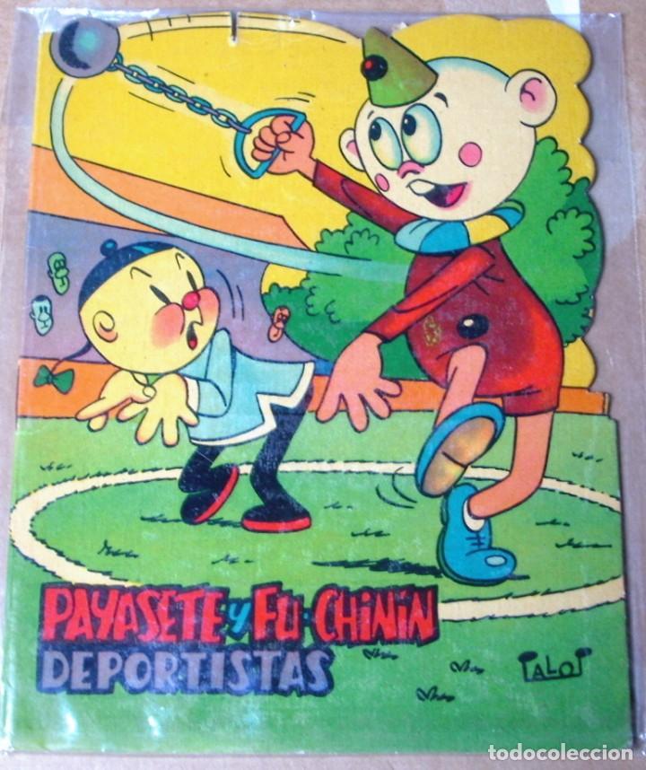 PAYASETE Y FU-CHININ DEPORTISTAS, TROQUELADOS PUMBY 1968 - ORIGINAL- PERFECTO (Libros Antiguos, Raros y Curiosos - Literatura Infantil y Juvenil - Cuentos)