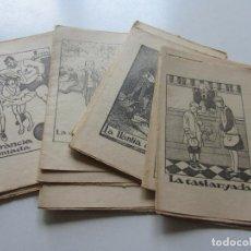 Libros antiguos: LOT 19 ANTICS CONTES 15 X 10,5 CM. COL.LECCIÓ EN PATUFET. ILUSTRACIONS OPISSO DEMANA FALTES C93S. Lote 112033347