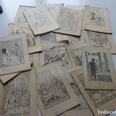 Libros antiguos: LOT 21 ANTICS CONTES 15 X 10,5 CM. COL.LECCIÓ EN PATUFET. ILUSTRACIONS OPISSO DEMANA FALTES C93S. Lote 112033599