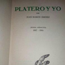 Libros antiguos: PLATERO Y YO POR JUAN RAMON JIMENEZ. Lote 112094516