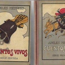 Libros antiguos: CUENTOS VIVOS 1 Y 2 SERIE / A. MESTRES. BCN : SEIX BARRAL, 1929-31. 18X14CM. 179 + 175 P.IL.. Lote 113386099
