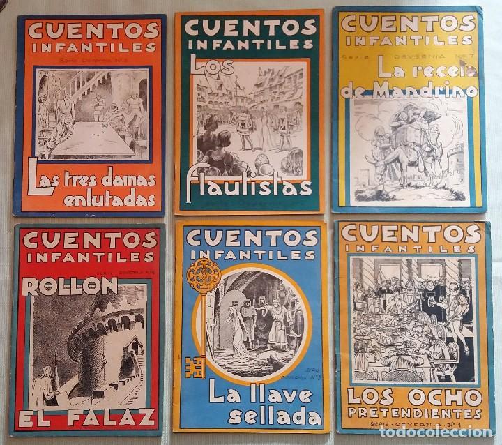 6 CUENTOS INFANTILES SERIE OSVERNIA Nº 1, 3, 4, 5, 6, 7. EDICIONES SERRA MASANA. (Libros Antiguos, Raros y Curiosos - Literatura Infantil y Juvenil - Cuentos)