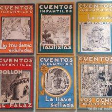 Libros antiguos: 6 CUENTOS INFANTILES SERIE OSVERNIA Nº 1, 3, 4, 5, 6, 7. EDICIONES SERRA MASANA.. Lote 114377635