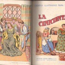 Libros antiguos: CINCO CUENTOS SOPENA ILUSTRADOS : CENICIENTA, PIEL DE ASNO, BARBA AZUL, MAMITA, BELLA DURMIENTE. Lote 114499451