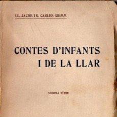 Libros antiguos: GRIMM : CONTES D' INFANTS I DE LA LLAR SEGONA SÉRIE (EDIT, CATALANA, C. 1930) TRAD. CARLES RIBA. Lote 155375617