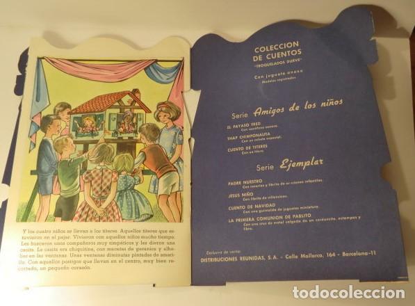 Libros antiguos: CUENTO DE TÍTERES CON JUGUETE ORIGINAL TROQUELADO SERIE AMIGOS DE LOS NIÑOS ED.COLON - Foto 3 - 114717371