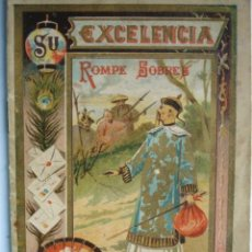 Libros antiguos: SU EXCELENCIA ROMPE SOBRES .CALLEJA .LEYENDAS MORALES 13X9. Lote 115673631